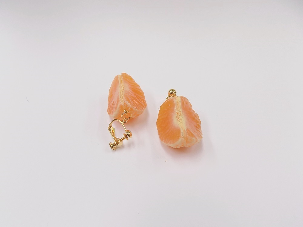Peeled Orange (quarter-size) Clip-On Earrings