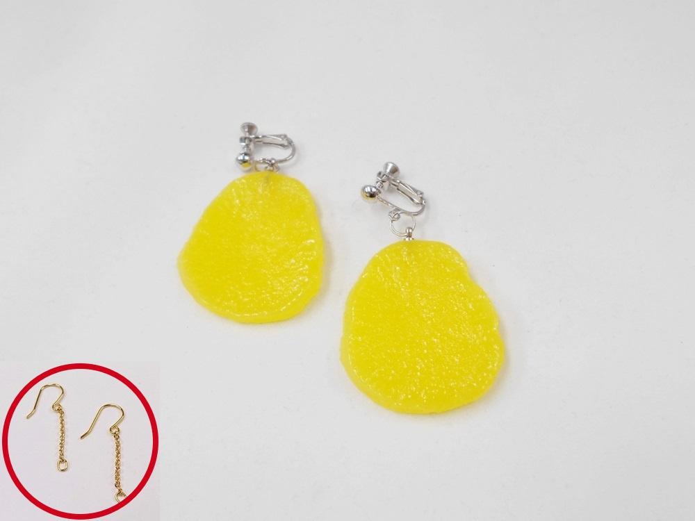 Pickled Japanese Radish Pierced Earrings