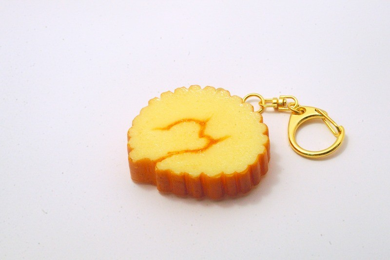 Rolled Fish Paste Omelette Keychain