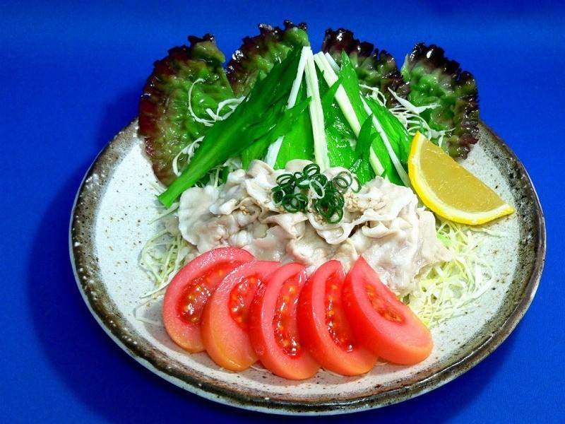 サラダ茶身豚冷しゃぶ 食品サンプル