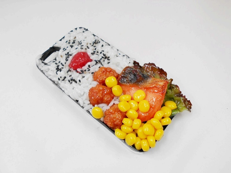 Salmon & Kara-age (Boneless Fried Chicken) Bento iPhone 7 Case