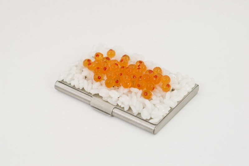 Salmon Roe Rice Business Card Case