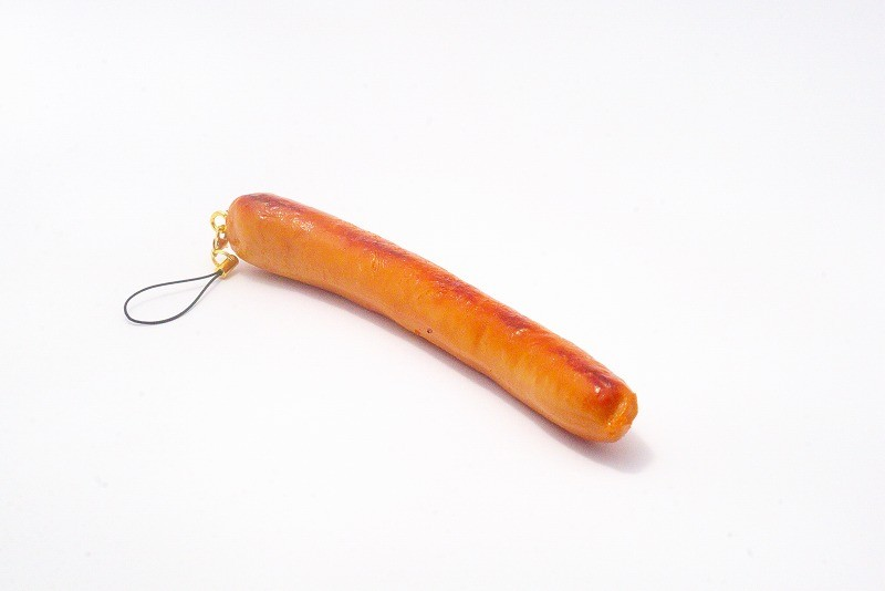 Sausage (large) Cell Phone Charm/Zipper Pull