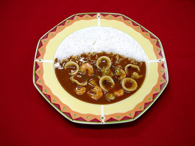 シーフードカレー 食品サンプル