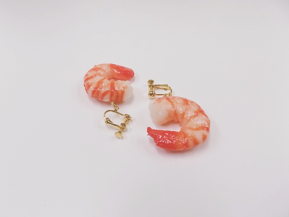 Shrimp (small) Clip-On Earrings
