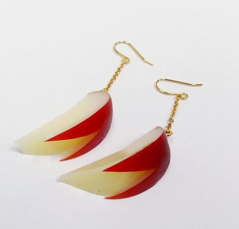 Sliced Apple (small) Pierced Earrings