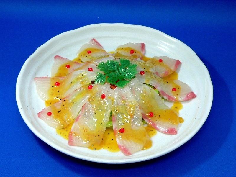 真鯛カルパッチョ 食品サンプル