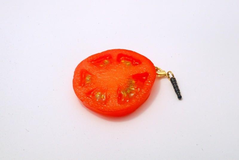 Sliced Tomato Headphone Jack Plug