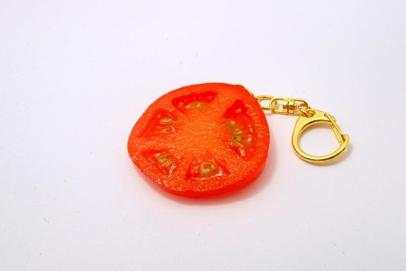 Sliced Tomato Keychain