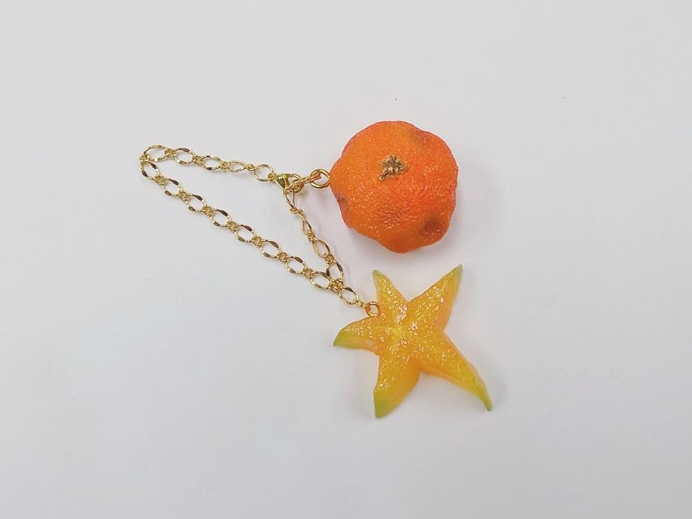 Spoiled Orange & Star Fruit (small) Bag Charm