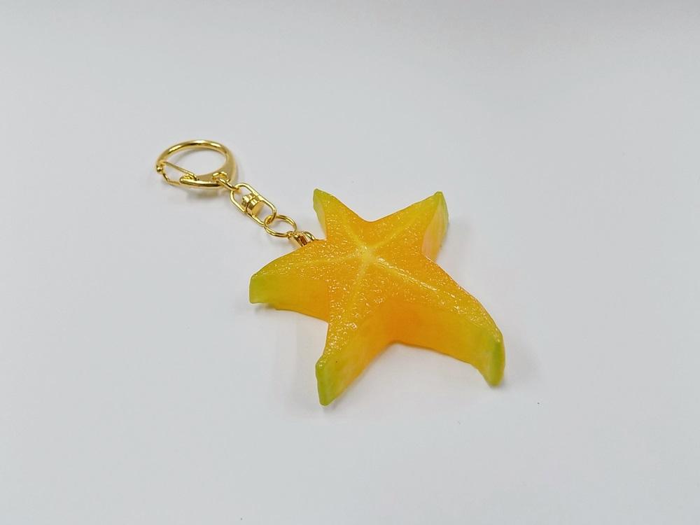 Star-Shaped Fruit Keychain