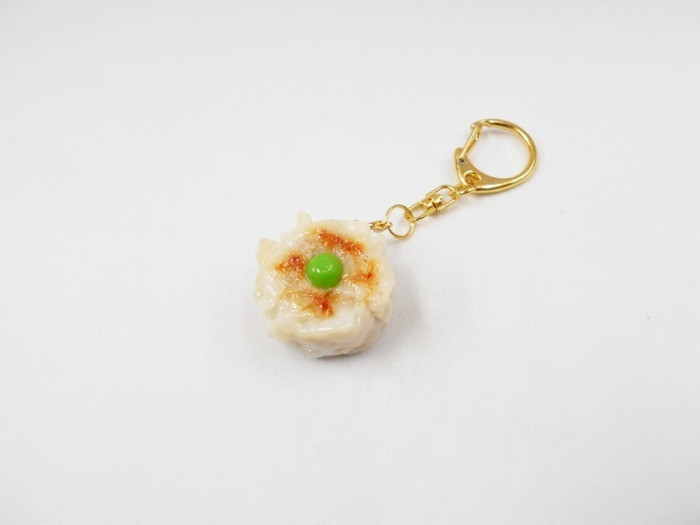 Steamed Pork Dumpling with Green Pea Keychain