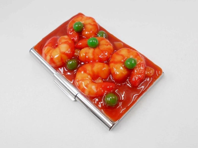 Stir-Fried Shrimp with Chili Sauce Business Card Case