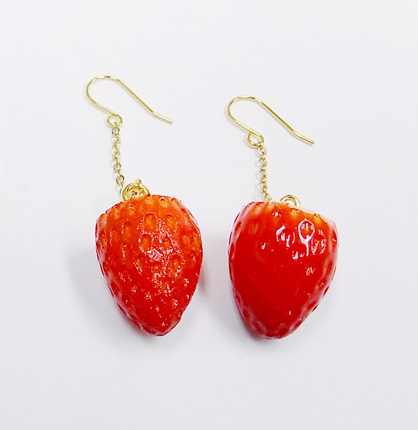 Strawberry Pierced Earrings