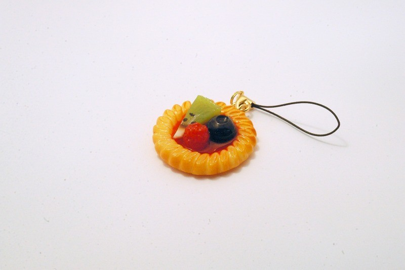 Strawberry Sauce-Filled Kiwi, Raspberry & Blueberry Cookie Cell Phone Charm/Zipper Pull