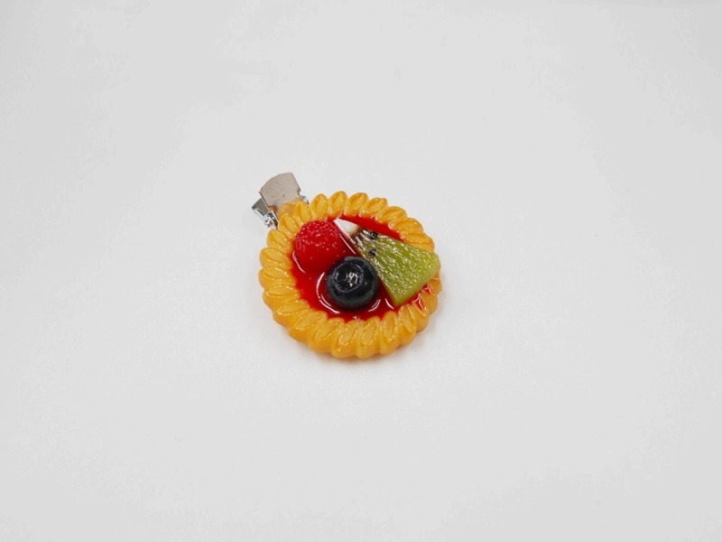 Strawberry Sauce-Filled Kiwi, Raspberry & Blueberry Cookie Hair Clip
