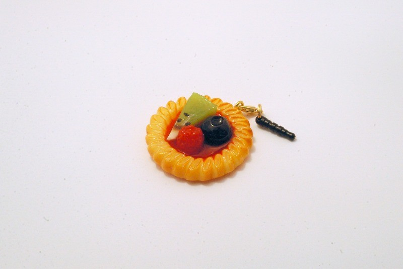 Strawberry Sauce-Filled Kiwi, Raspberry & Blueberry Cookie Headphone Jack Plug