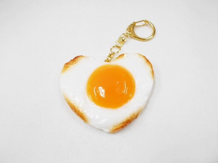 Sunny-Side Up Egg (Heart) Keychain