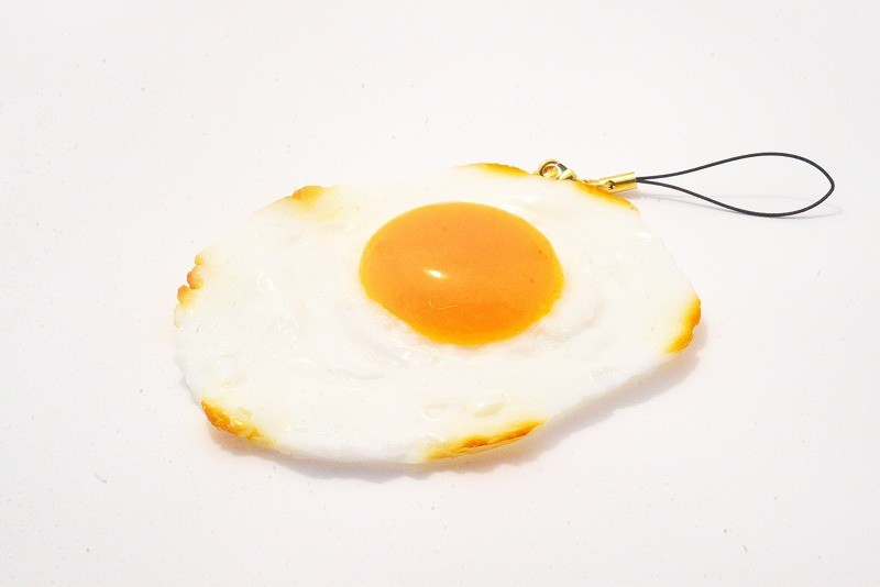 Sunny-Side Up Egg (large) Cell Phone Charm/Zipper Pull
