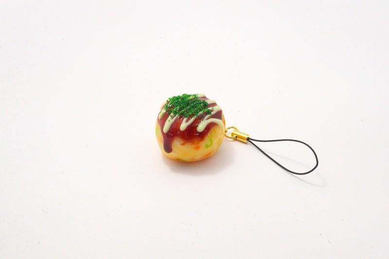 Takoyaki (boule de poulpe frite) avec mayonnaise (petite) Bijou/fermeture éclair pour téléphone portable