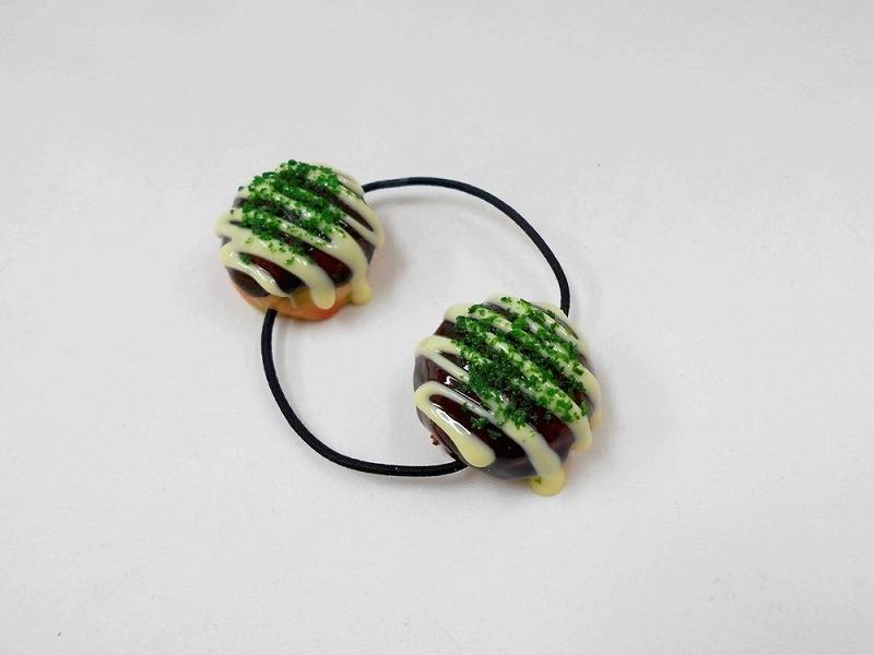 Takoyaki (Fried Octopus Ball) with Mayonnaise (small) Hair Band (Pair Set)
