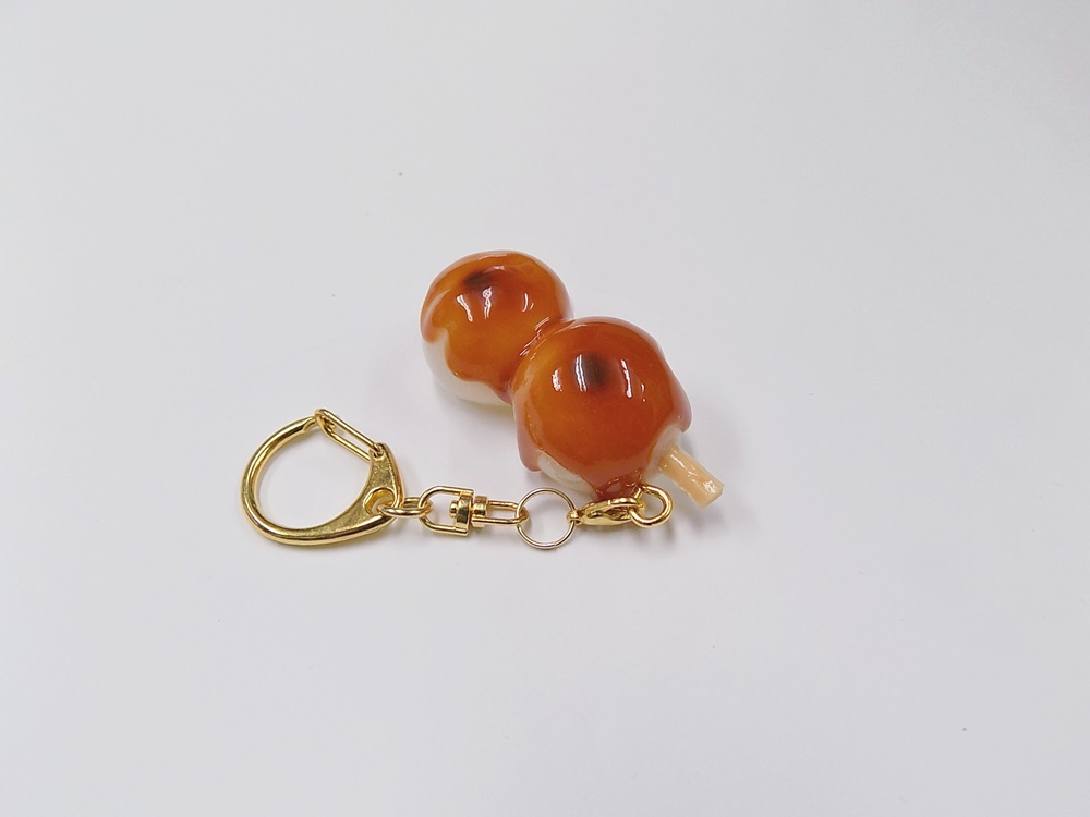 Toasted Dumplings Covered in a Soy & Sugar Sauce (2-piece with Skewer) Keychain