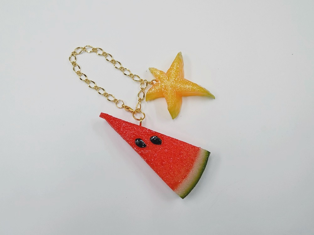 Watermelon (small) Ver. 2 & Star Fruit (small) Bag Charm
