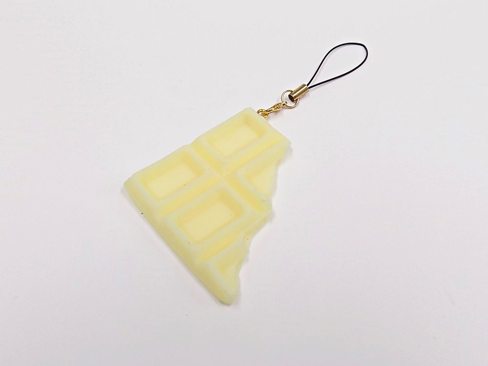 White Chocolate Bar Piece Cell Phone Charm/Zipper Pull