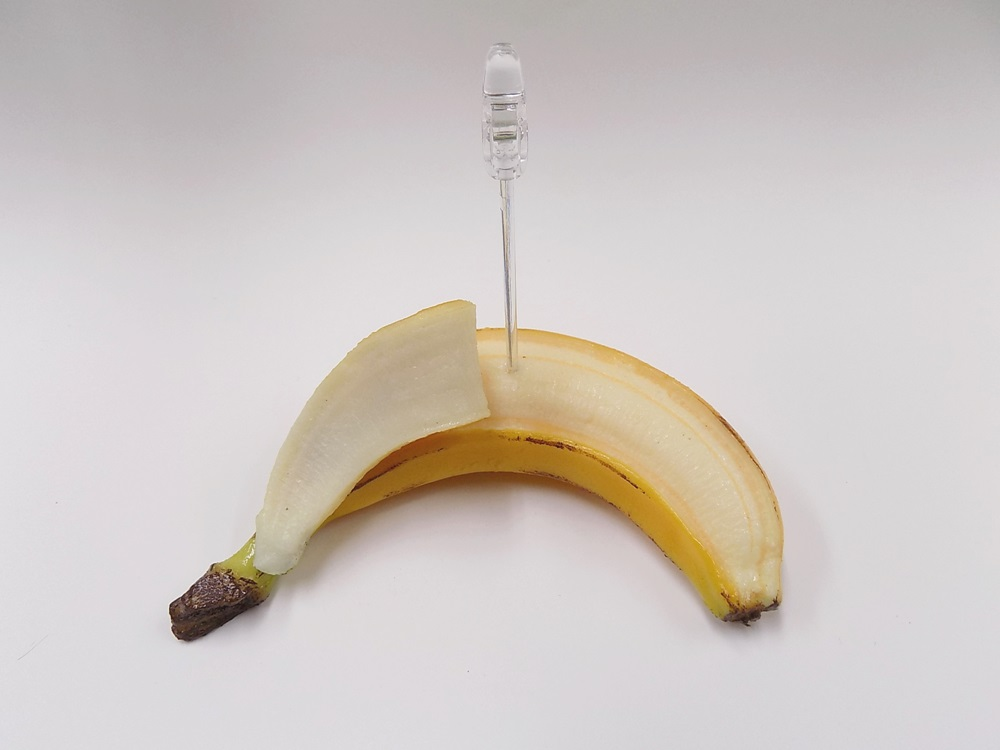 Whole Peeled Banana Card Stand