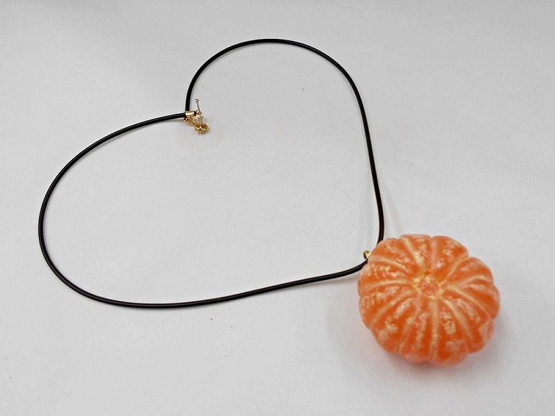 Whole Peeled Orange Necklace