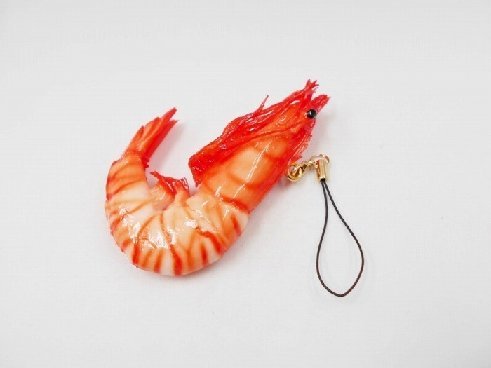 Whole Shrimp (small) Cell Phone Charm/Zipper Pull
