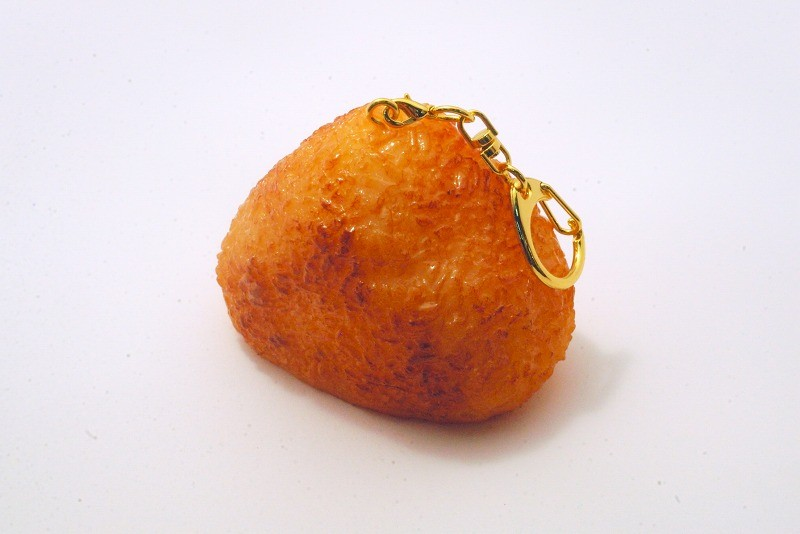 Yaki Onigiri (Toasted Rice Ball) Keychain | Fake Food Japan
