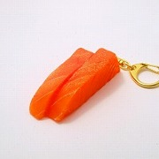 2 Cuts of Salmon Sashimi Keychain - Fake Food Japan