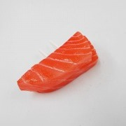 2 Cuts of Salmon Sashimi Outlet Plug Cover - Fake Food Japan