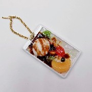 Anmitsu with Ice Cream Dessert Pass Case with Charm Bracelet - Fake Food Japan