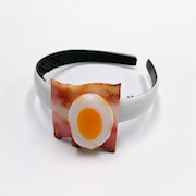 Bacon & Egg Headband - Fake Food Japan