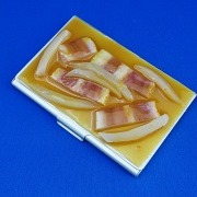 Bacon & Onion Miso Soup Business Card Case - Fake Food Japan