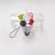 Blueberry Parfait (mini) Cell Phone Charm/Zipper Pull - Fake Food Japan