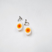 Boiled Quail Egg Clip-On Earrings - Fake Food Japan