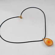 Boiled Quail Egg in Soy Sauce Necklace - Fake Food Japan