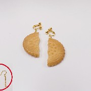 Broken Cookie (half-size) Pierced Earrings - Fake Food Japan