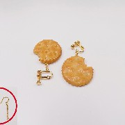 Broken Cracker Ver. 1 Pierced Earrings - Fake Food Japan