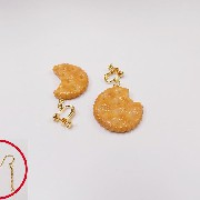 Broken Cracker Ver. 3 Pierced Earrings - Fake Food Japan