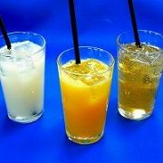 ホワイトウォーター ・オレンジジュース ・ジンジャエール 食品サンプル