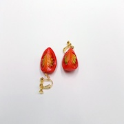 Cherry Tomato (quarter-size) Clip-On Earrings - Fake Food Japan
