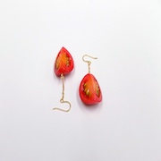 Cherry Tomato (quarter-size) Pierced Earrings - Fake Food Japan