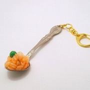 Chicken Rice on Spoon (small) Keychain - Fake Food Japan