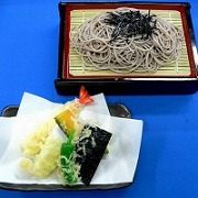 Chilled Soba Noodles with Tempura Replica - Fake Food Japan