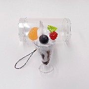 Chocolate Parfait (mini) Cell Phone Charm/Zipper Pull - Fake Food Japan