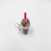Cocoa with Whipped Cream (mini) Cell Phone Charm/Zipper Pull - Fake Food Japan